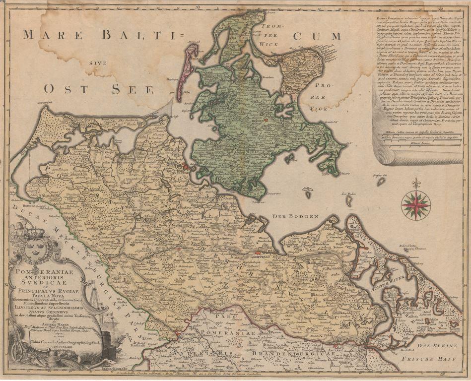 Greifswald Karte.Geographische Kartensammlung Die Mayer Sche Karte Universität