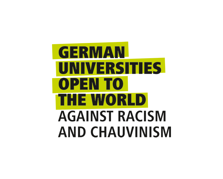 Logo 'German Universities Open to the World'