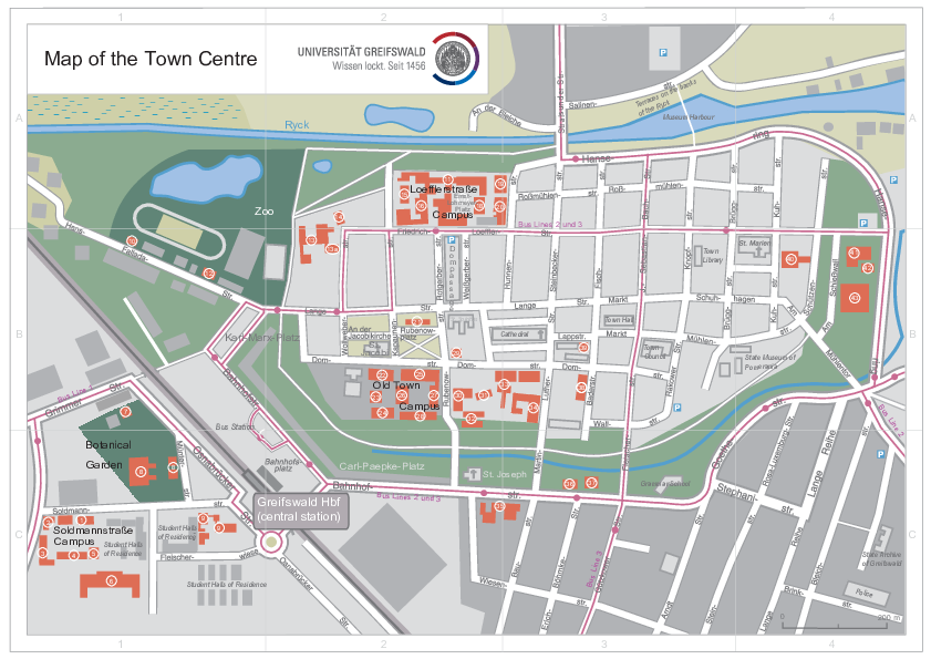 Map of the Town Centre, November 2018