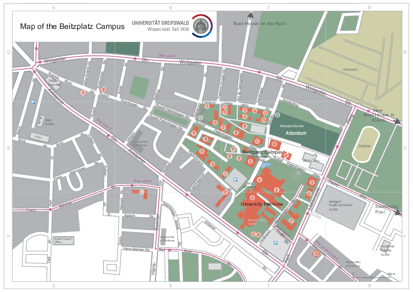Map of the Berthold-Beitz-Platz Campus