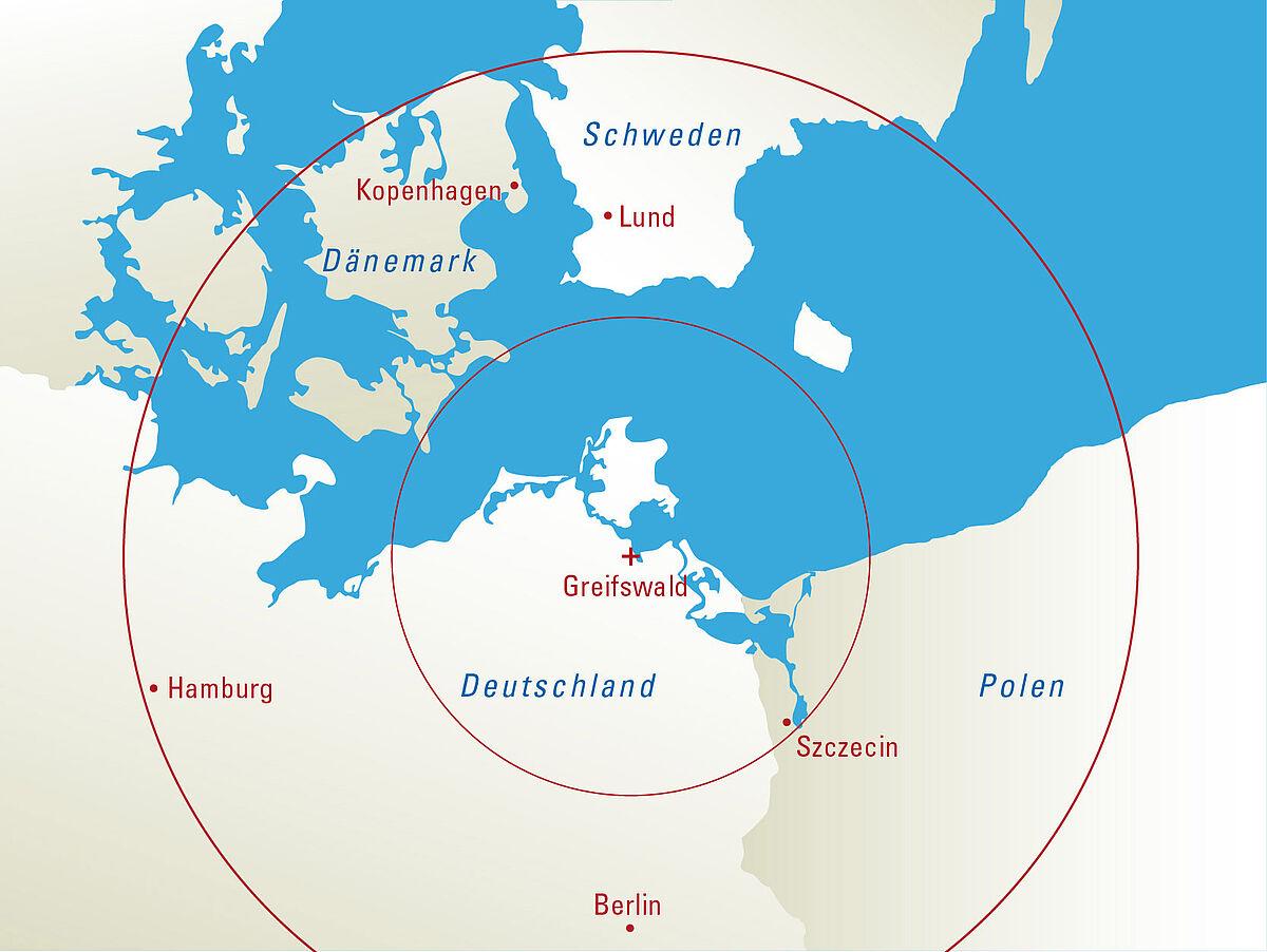 Greifswald Karte.Anreisen Universität Greifswald